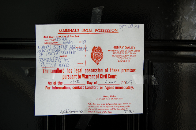 Evictions and Warrants of Eviction in New York State — New
